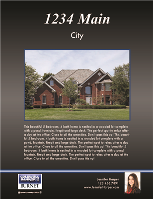 "Property Brochures 8.5"" x 11"" Coldwell 3005"
